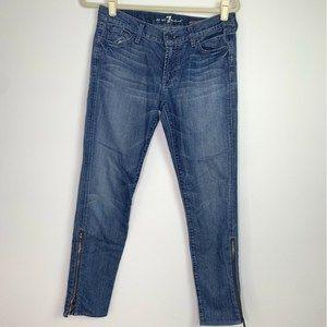 7FAM GWENEVERE SUPER SKINNY zipper ankle Jean
